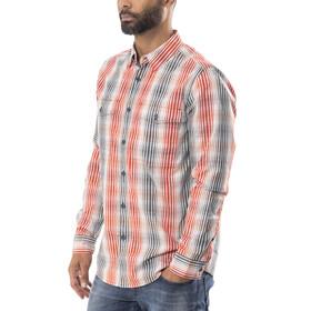 Royal Robbins Vista Chill Plaid - Camiseta de manga larga Hombre - rojo/azul